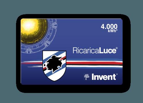 Card RicaricaLuce Sampdoria