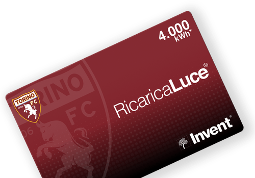 Card RicaricaLuce Torino