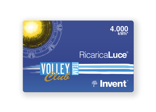 Card RicaricaLuce VolleyTeam